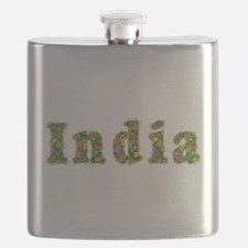 India Floral Flask