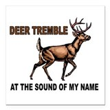 Deer hunting Square Car Magnets
