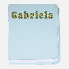 Gabriela Floral baby blanket