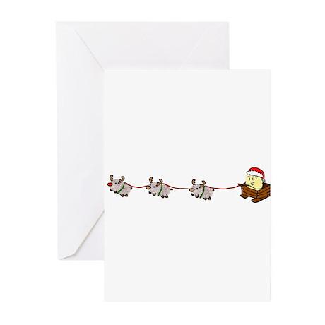 Santa Len Greeting Cards (Pk of 10)