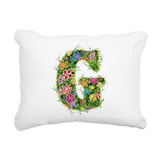 G Floral Rectangular Canvas Pillow