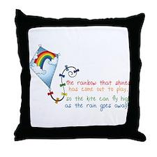 Rainbow Shines Throw Pillow