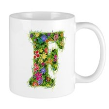 F Floral Mug