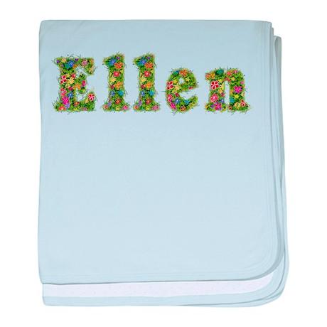 Ellen Floral baby blanket