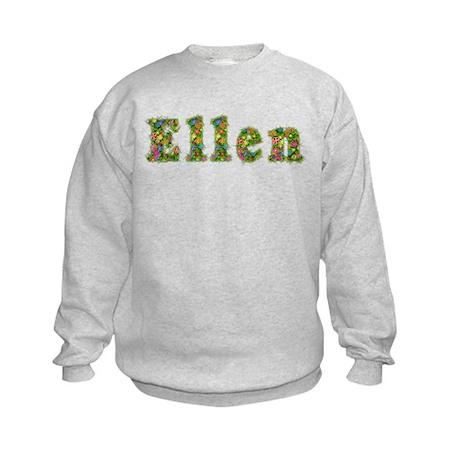 Ellen Floral Kids Sweatshirt