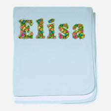 Elisa Floral baby blanket