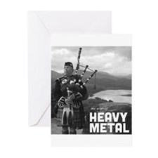 Heavy Metal Bagpipes Greeting Cards (Pk of 10)