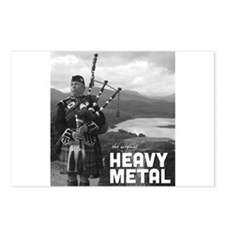 Heavy Metal Bagpipes Postcards (Package of 8)