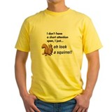 Funny animals Mens Yellow T-shirts