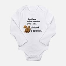 Oh Look A Squirrel Long Sleeve Infant Bodysuit