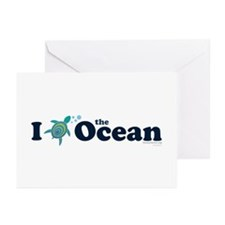 I Turtle the Ocean! Greeting Cards
