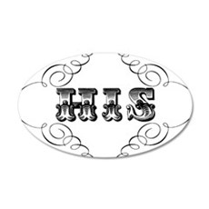 His 20x12 Oval Wall Decal