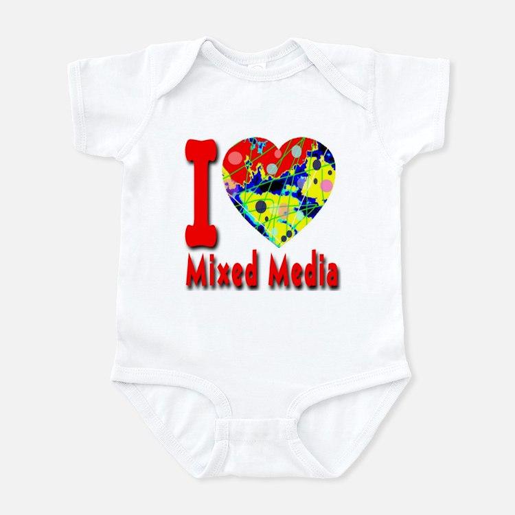 I Love Mixed Media Infant Bodysuit