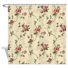 Vintage Flowers Shower Curtain