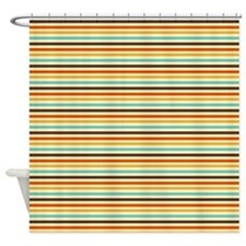 Retro Horizontal Stripes Shower Curtain
