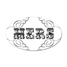 Hers 20x12 Oval Wall Decal