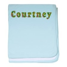 Courtney Floral baby blanket