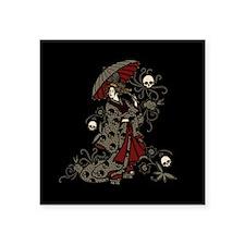 "Gothic Geisha Square Sticker 3"" x 3"""