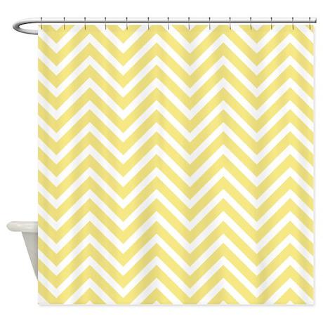 yellow chevron stripes shower curtain by cheriverymery
