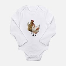 chicken whimsy Long Sleeve Infant Bodysuit