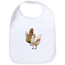 chicken whimsy Bib