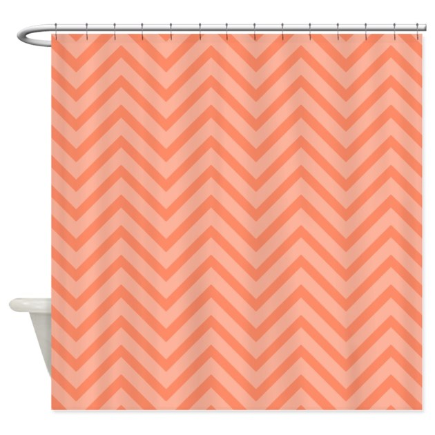 Pretty Chevron Stripes Shower Curtain By Cheriverymery