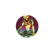 Golden Hindi Goddess Mini Button