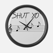 Shut yo' FACE Large Wall Clock