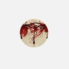 Art Nouveau Blood Motif Mini Button