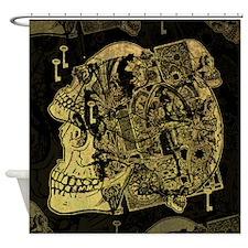 Gothic Skull Collage Shower Curtain