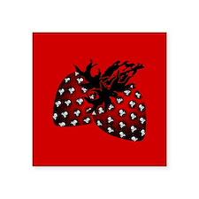 "Gothic Strawberries Square Sticker 3"" x 3"""