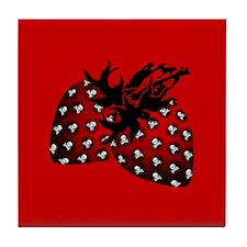Gothic Strawberries Tile Coaster