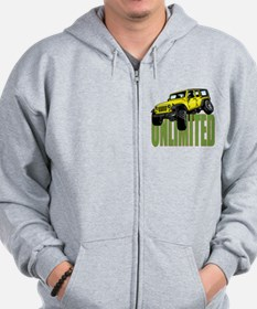 Cute Jeeping flex on Zip Hoodie