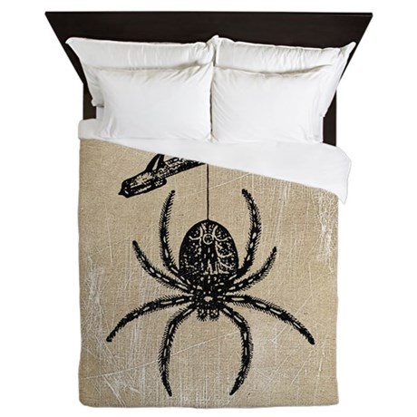 Spider On Branch Queen Duvet By Opheliasart