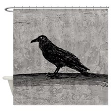 A Raven Shower Curtain