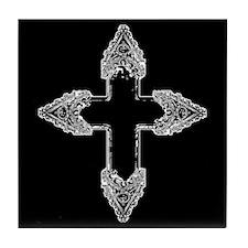 Ornate Gothic Cross Tile Coaster