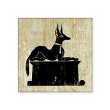 "Jackal On Shrine Square Sticker 3"" x 3"""
