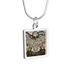Pharaoh's Curse Silver Square Necklace