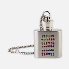 RBW Fingerspelled ABC Flask Necklace