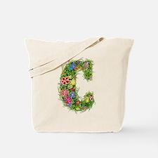 C Floral Tote Bag