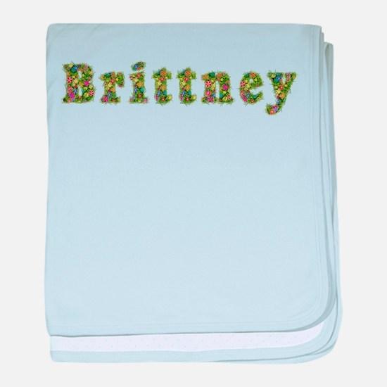 Brittney Floral baby blanket