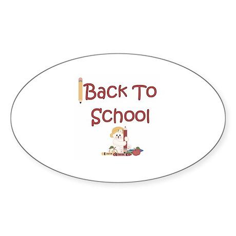 """Back to School"" Oval Sticker"
