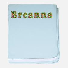 Breanna Floral baby blanket