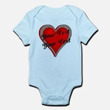 Crimson Heart Infant Bodysuit
