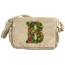 B Floral Messenger Bag