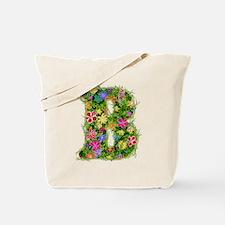 B Floral Tote Bag