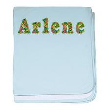 Arlene Floral baby blanket