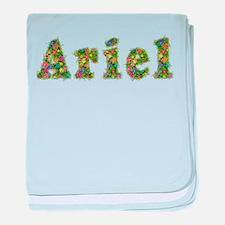Ariel Floral baby blanket