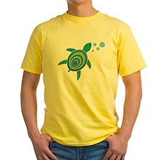 Ocean Doctor Sea Turtle Logo Yellow T-Shirt
