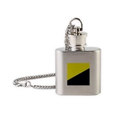 Anarcho-Capitalist Flag Flask Necklace